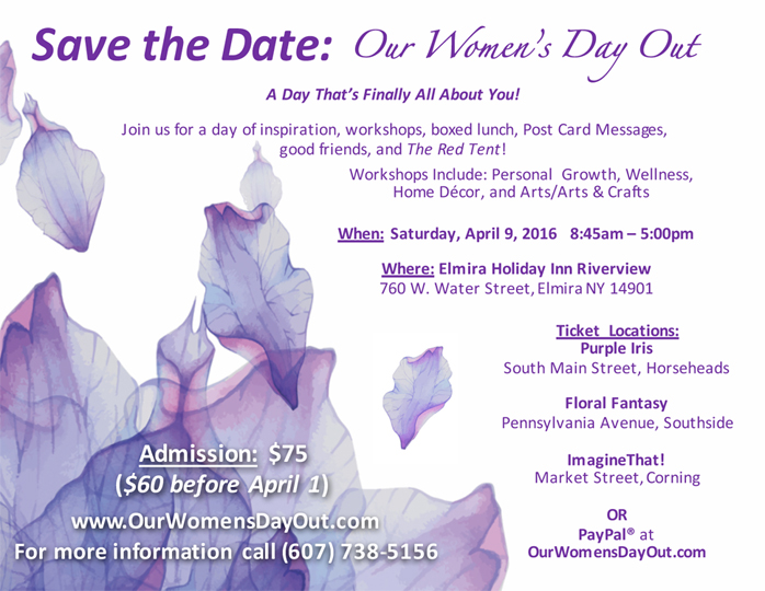 Womens-Day-Out-Save-The-Date-Template